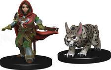 Wardlings Girl Ranger with Lynx Painted Fantasy Miniatures Set WZK73322 Wizkids