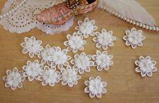Wedding Lace Applique 3D Beaded Lace Applique Trim Floral Bridal Motif 5 Pieces