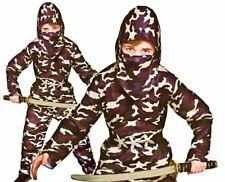 Child NINJA DELTA FORCE Martial Arts Camouflage Boy Fancy Dress Costume Age 3-13