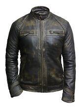 Men Leather Biker Racing Jacket            Vintage men leather biker jacket