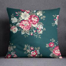 S4Sassy Home Decor Green Floral Printed Indian Sofa Cushion Cover-PAR-SUB-SAS47C