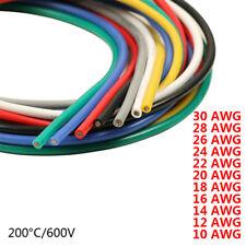 Verde Cable de Alambre Flexible de Silicona Suave UL3239 16//18//20//22//24//26~30AWG