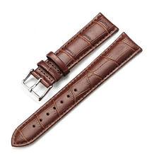 Para hombres genuino cuero reloj correa hebilla de acero Banda Croco S. y 3 Barras de Resorte Reino Unido