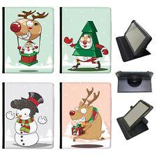 Santa Reindeer Christmas Fun & Frolics Universal Leather Case For Lenovo Tablets