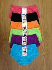 6 Pairs 6 Colours Women / Ladies Lace Cotton Fashion Underwear Undies Briefs