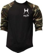 Men's MMA Muay Thai Figures Camo Baseball Raglan T Shirt Fighting Kickboxing