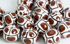 Géométrique Design Balle Glacé perle peinte à la main au Pérou V031