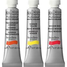 Winsor & Newton Artists Professionnel Aquarelle Peinture 5 ml tubes Gamme Complète