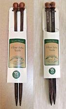 Exotic Wood 10mm Knitting Needles, Size 15, Sustainable, Size 15 - 2 Shapes