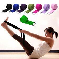 Pro Women Yoga Stretch Strap D-Ring Belt Gym Rope Figure Waist Leg Resistance