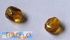 BIGIOTTERIA PERLINE -20 mezzi cristalli 6 mm Topaz