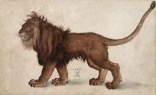 Albrecht Durer lion canvas print giclee 8X12 & 12X17 reproduction art poster