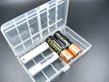 Claro caso titular de Batería Grande Caja De Almacenamiento Para Batería Recargable AAA AA 14500