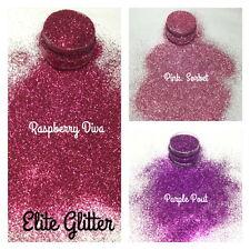 New Nail Art Glitter Festival  Fine Chunky Mix Pink Purple 008 5g bag/pot