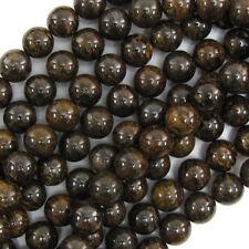 "Bronzite Round Beads Gemstone 15.5"" Strand 4mm 6mm 8mm 10mm 12mm 14mm 18mm"