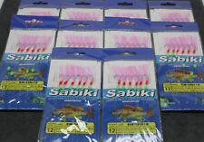 Sabiki Live Bait Jigs Size 12, X2, X5, X10. 6 Hook Rigs, Yellow Tail, Slimies