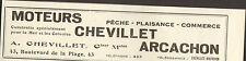 33 ARCACHON MOTEURS CHEVILLET PETITE PUBLICITE 1933