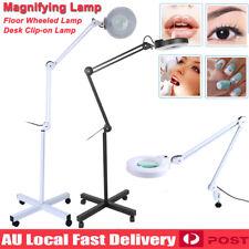 7e797daff5e 5x Magnifying Lamp Glass Lens Beauty Illuminated Light Magnifier Desk Stand