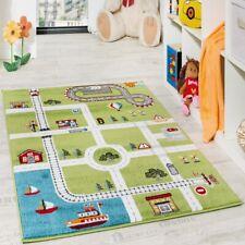 Tapis Pour Enfants Tapis De Jeu Ville Port Tapis Route Ville Route Gris Vert