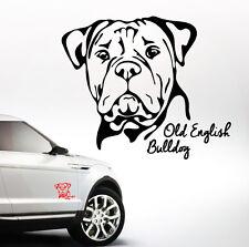 AWILPORT Auto Aufkleber OLD ENGLISH BULLDOG Portrait Hunde WILSIGNS Siviwonder