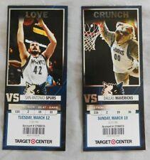 2012-13 Minnesota Timberwolves Ticket Stub Choose One