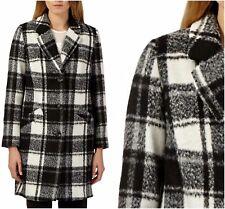 ex Debenhams Monochrome Checked Coat