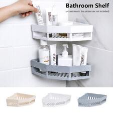 NEW Bathroom Corner Shelf Suction Shower Rack Organizer Cup Storage Wall Basket~