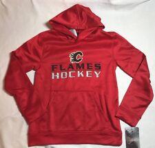 NWT NHL Calgary Flames Youth Hoodie Sweatshirt Medium 10/12