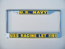 Uss Racine Lst 1191 License Plate Frame U S Navy Usn Military