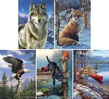 Malen nach Zahlen Winter im Wald  Komplettset 30 cm x 40 cm Großformat Basteln & Kreativität
