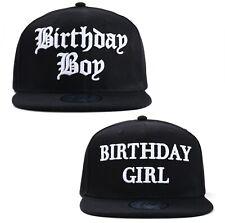 Happy Birthday Fun Novelty Party Celebration Black Snapback Baseball Cap
