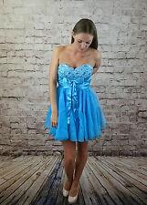 j'DORE BEADED BUST FLOWY CHIFFON DRESS in BLUE RRP £55 (CHI1-10)