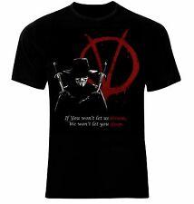 Anonymous V for Vendetta T-Shirt Neu 100% Cotton All Sizes