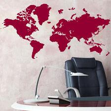 Grande Mappa Del Mondo Adesivi Da Parete-Globe Grafica Vinile Arte Decalcomanie Room Decor