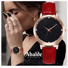 Reloj Pulsera Mujer Casual Analógico Rojo Negro Fashion Acero Inox 36 mm Regalo