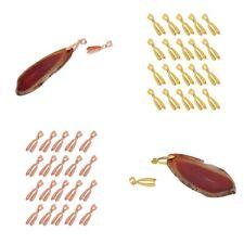 20pcs 20X7mm Pinch Bails Charm Pendants Bail Connectors DIY Jewelry Findings