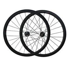 Pro carbon 700C 38mm tubular wheelset disc hub sapim Cx-ray spoke
