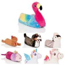 Womens Ladies Slippers Girls Novelty 3D Character Plush Unicorn Animal UK 3-8