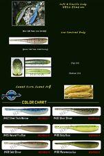 "20 leurres souples finesse shad Chiko Fish 3"" PAYO pêche perche blackbass sandre"