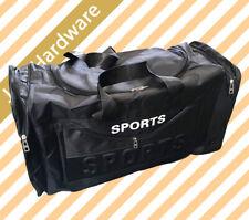 "25"" Sports Bag Canvas Duffel Gym Black Large Unisex Travel Shoulder Strap Bags"