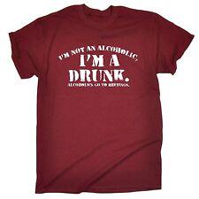 Im not alcoolique Im un ivrogne T-shirt Tee pub bière Party Stag Cadeau D'Anniversaire