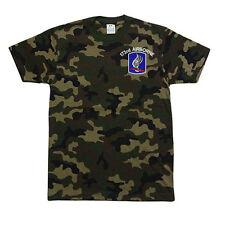 PROCLUB PRO CLUB CAMO Camouflage T-SHIRT T SHIRT 173rd Airborne Logo