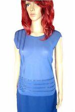 VERSACE Luxury Design New Woman Vtg Evening Formal Lace Sheer Blue Blouse sz S M