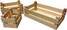 Contenitore cassetta cestino cesto in legno portapane espositore da bancone new