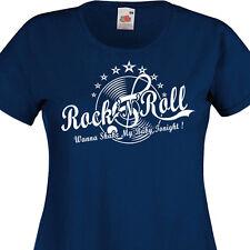 T-shirt femme ROCK'N'ROLL Rockabilly Disque vinyle Clef de Sol 60's  Années 60
