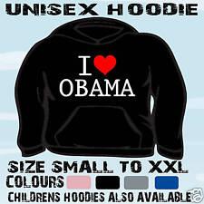 I Love Cuore Obama Unisex Felpa Con Cappuccio Felpa con cappuccio L@@K