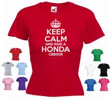 'Keep Calm and Ride a Honda CB650R' Funny Ladies T-shirt
