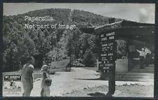 NH Mt. Sunapee State Park RPPC 1940's SNOW SKI CHAIR LIFT Picnic Area Excellent