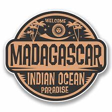 2 X 10cm Madagascar Adesivo Vinile Decalcomania PORTATILE VIAGGIO BAGAGLI tag regalo # 9837