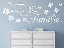 X228 Wandtattoo Spruch - Der größte und Schatz im Leben Familie Wandaufkleber